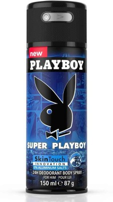 Playboy Super Deodorant Spray  -  For Men(150 ml)  available at flipkart for Rs.198