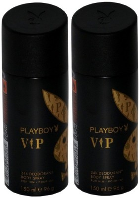 Playboy Pack of 2 VIP Men Deo Deodorant Spray  -  For Men(300 ml, Pack of 2)  available at flipkart for Rs.349