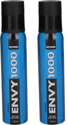 Envy 1000 Nitro Deodorant Spray (Pack of 2) Body Mist  -  For Women(260 ml, Pack of 2)  available at flipkart for Rs.348