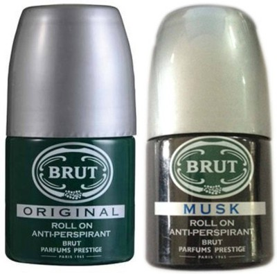 Brut Musk and Original Deodorant Roll-on  -  For Men & Women(100 ml, Pack of 2)
