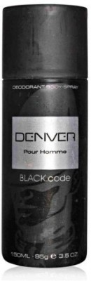 Denver Black Code Deodorant for Men 100 ml