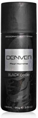Denver Black Code Deodorant for Men - 100 ml
