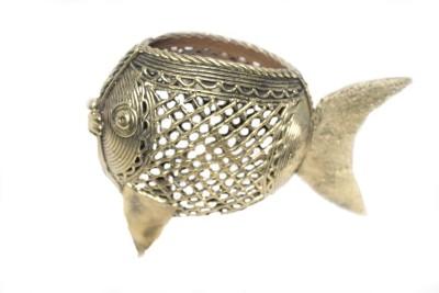 Sarvsiddhi 1 Compartments Brass Pen Holder(Gold)