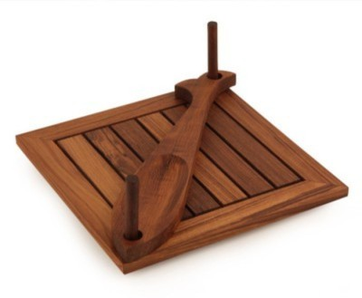 Onlineshoppee CAC 2 Compartments Wooden Napkin Holder(Brown)