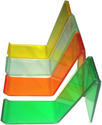 Rasper 1 Compartments Multicolor Acrylic Shoe Display Stand (Pack Of 12 Pcs) Display Stand(Multicolor)