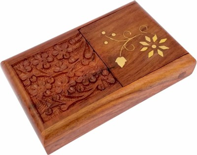 TimberKart 1 Compartments Sheesham Wood Pocket Case Hand carved Cigarette Holder Stand(Brown)  available at flipkart for Rs.269