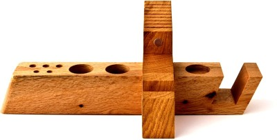 saaheli 8 Compartments Wooden Desk Organizer(Brown)