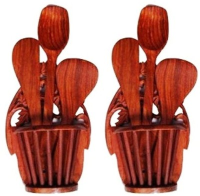 Onlineshoppee CAC 2 Compartments Wood Napkin Holder,(Brown)