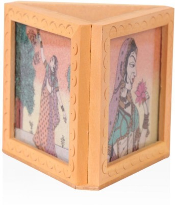 Rajwada Arts Rajasthani 1 Compartments Wooden Office Stationary Holder(Multicolor)