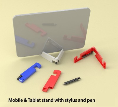 Power Plus 2 Compartments Plastic Mobile & Tablet Stand with stylus and pen(White)  available at flipkart for Rs.149