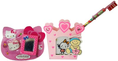 Giftcart Signature 1 Compartments Plastic Pen Stand(Pink)