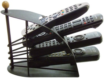 CheckSums 4 Compartments Metal Remote Stand(Black)  available at flipkart for Rs.325