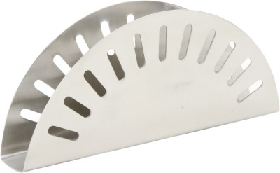 Homeish 1 Compartments Stainless Steel Napkin Holder(Silver)