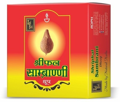 Zed Black - Made From Natural Herbs - Consists 12 Packs Inside With Stand -  Shriphal Sambrani Dhoop Cone