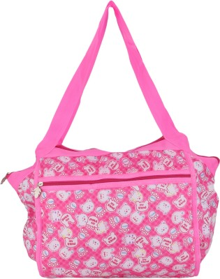 Global Gifts Contemporary Backpack Diaper Bag White, Pink Global Gifts Diaper Bags