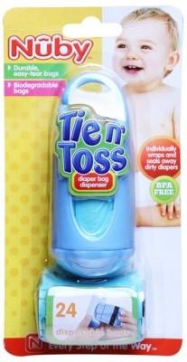 NUBY Tie n Toss Dirty Diaper Bag Dispenser Disposable Diaper Bag NUBY Diaper Bags