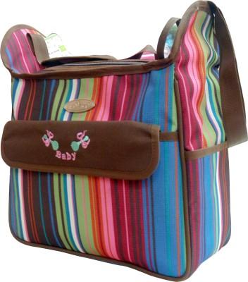 1st Step Stripe Messenger Diaper Bag Multicolor 1st Step Diaper Bags