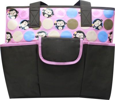 Kiwi Smart Monkey Print Diaper Bag Multicolor