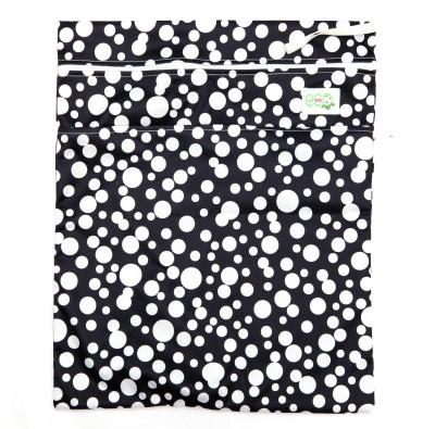 Eco Baby Polka Fusion WB Diaper Bags Black Eco Baby Diaper Bags