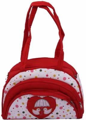 KUBER INDUSTRIES Baby Messenger Diaper Bag Red KUBER INDUSTRIES Diaper Bags