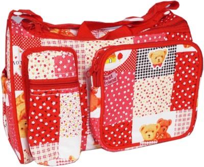 Hanu Enterprises SMALREDTED Messenger Diaper Bag Red Hanu Enterprises Diaper Bags