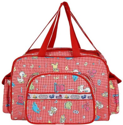 Littly Multipurpose Waterproof Mother Bag Large  Red Littly Diaper Bags