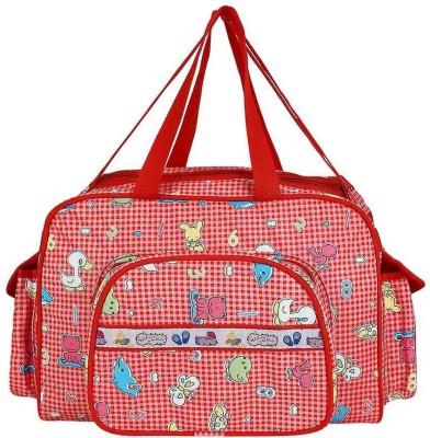 Littly Multipurpose Waterproof Mother Bag Large  Red