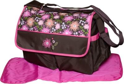 Offspring Multi Function Mama Shoulder Diaper Bag(Brown, Pink)