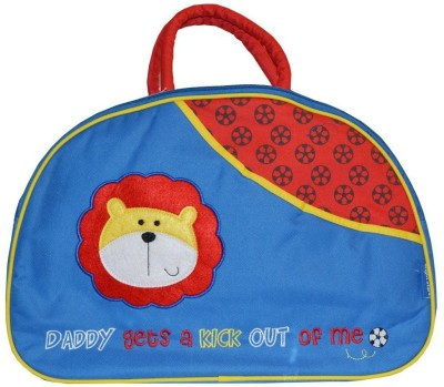 Baby Bucket Lion Embroidery Diaper Bag Blue Baby Bucket Diaper Bags