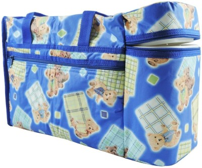 N M Teddy Print with Warmer Nursery Bag Multicolor N M Diaper Bags