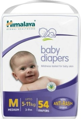 Himalaya Anti-Rash Baby Diapers (54 PCS, M)