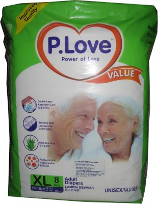 P-Love Adult Diapers - XL(8 Pieces)