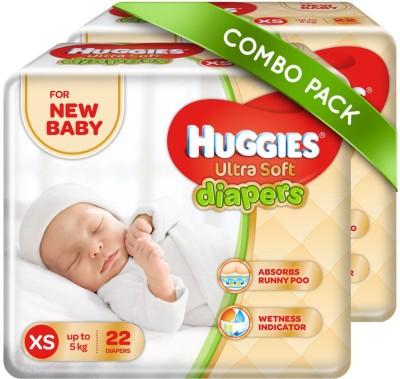 Huggies Ultra Soft Diaper - XS(44 Pieces)