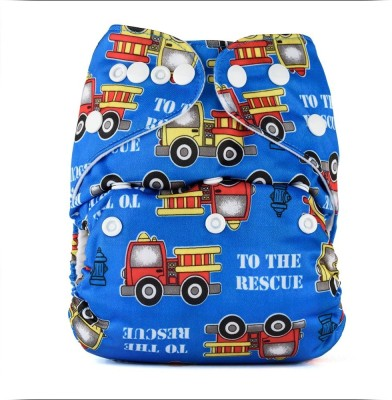 Bumberry Pocket Diaper (Trains) - New Born(2 Pieces)