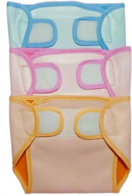 EIO Baby Infant Washable Reusable Pocket Nappy Quick Dry Cloth Diaper (Pack of 3) - meduim (3 Pieces)