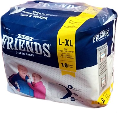 Friends PULL UPS / PANT STYLE DIAPERS 10 Pieces - L(10 Pieces)