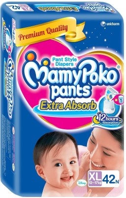 Mamy Poko Pants Extra Absorb Baby XL Diapers (42 Pieces)