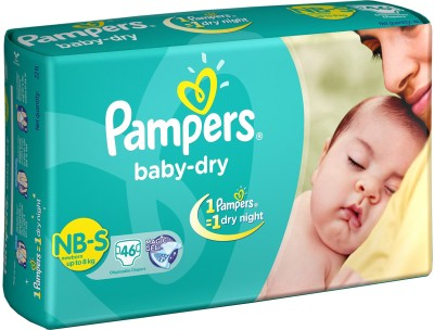 Pampers Baby Diapers - New Born(46 Pieces)