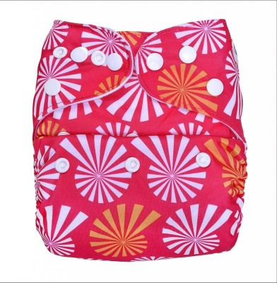 Bumberry Pocket Diaper-Wflower on Pink - New Born(2 Pieces)