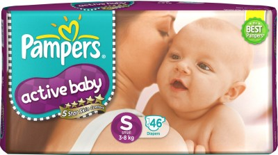 Pampers Active S Diapers (46 Pieces)