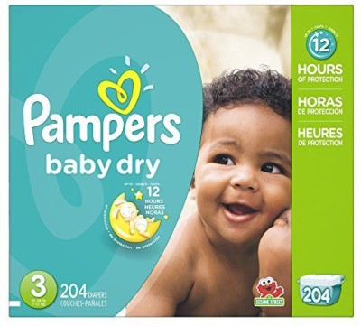 Pampers P&G Baby Dry Diapers Economy Pack Plus, Size 3, 204 Count - S(204 Pieces) at flipkart
