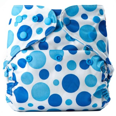 Bumberry Diaper Cover (Blue Dots) - New Born(2 Pieces)