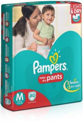 Pampers Medium Size Diapers Pants - 80 Count