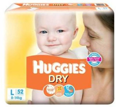 Huggies New Dry Diaper   L 52 Pieces