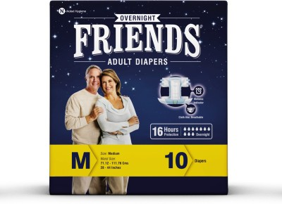 Friends Overnight Diaper 16 Hours Protection Disposable Diapers - M(10 Pieces)