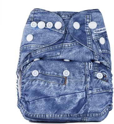 Bumberry Pocket Diaper (Jeans) - New Born(2 Pieces)