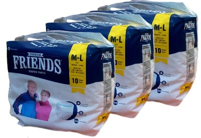 Friends PULL UPS / DIAPER PANTS PACK OF 3 - M(3 Pieces)