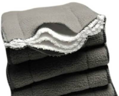 Kuhu Creations Washable 5 Layer Bamboo Charcoal Inserts Reusable Cloth Diaper Inserts - Medium (6 Pieces)