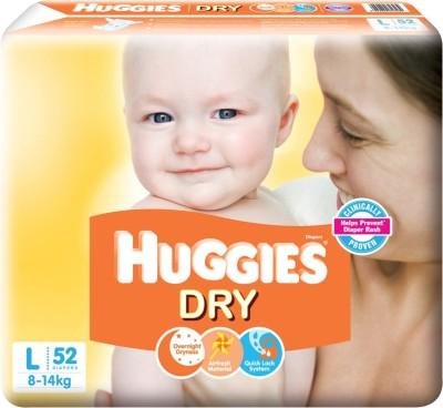 Huggies New Dry - L(52 Pieces) at flipkart