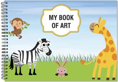 Little Jamun A4 Notebook Sketch Book   Animal, Multicolor